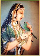 Radha mit Parrot