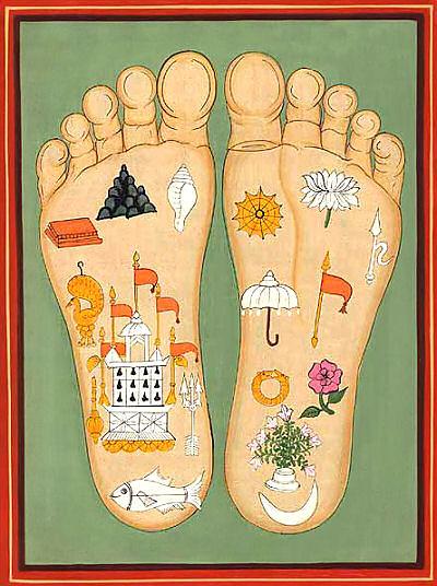 Srimati Radharani's Lotus Feet